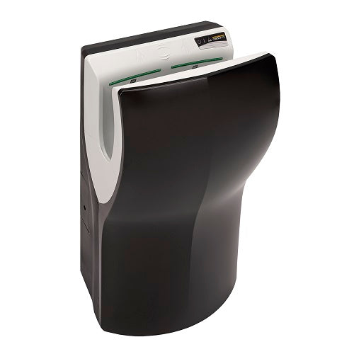 Saniflow® M14AB DUALFLOW® PLUS Hand Dryer - Black High-Speed HEPA Universal Voltage ADA-Our Hand Dryer Manufacturers-Saniflow-Allied Hand Dryer