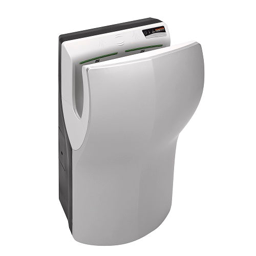 Saniflow® M14ACS DUALFLOW® PLUS Hand Dryer - Satin (Silver) High-Speed HEPA Universal Voltage ADA-Our Hand Dryer Manufacturers-Saniflow-Allied Hand Dryer