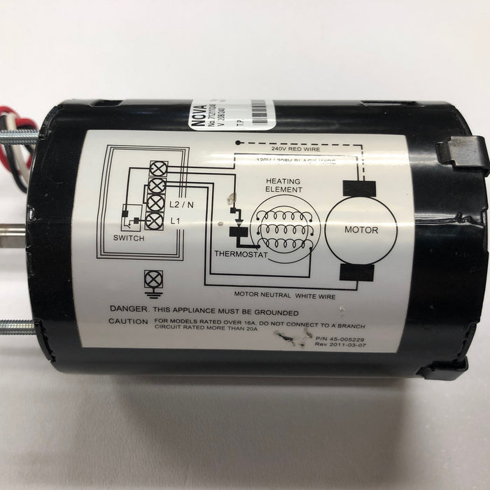 NOVA 0122 / NOVA 5 Push-Button Model (208V-240V) MOTOR (Part# 32-055238K)