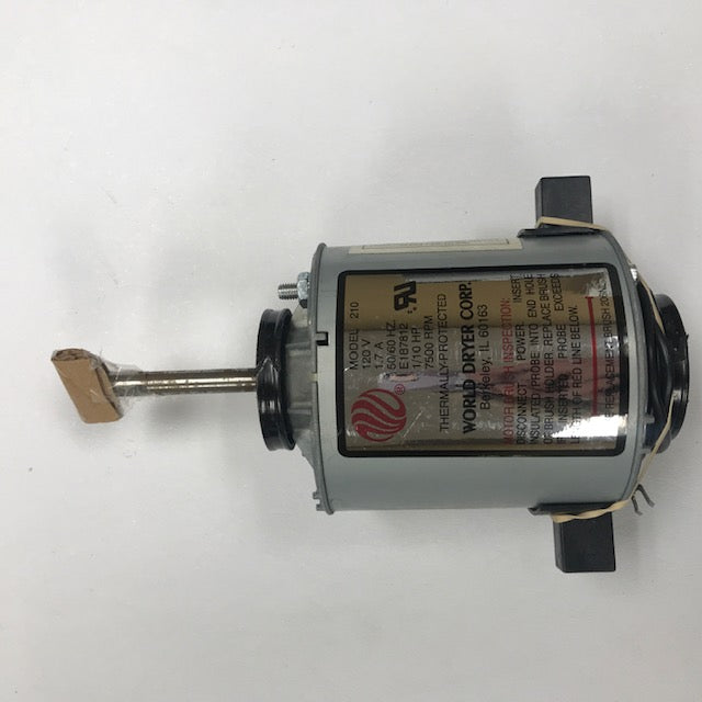 WORLD A5-974 (115V - 20 Amp) MOTOR ASSEMBLY with MOTOR BRUSHES (Part# 210K)-World Dryer-Allied Hand Dryer