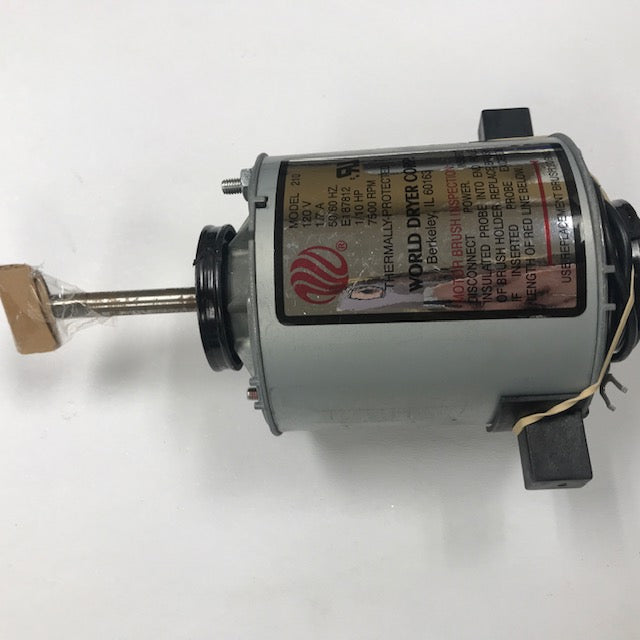 WORLD A52-974 (115V - 15 Amp) MOTOR ASSEMBLY with MOTOR BRUSHES (Part# 210K)-World Dryer-Allied Hand Dryer