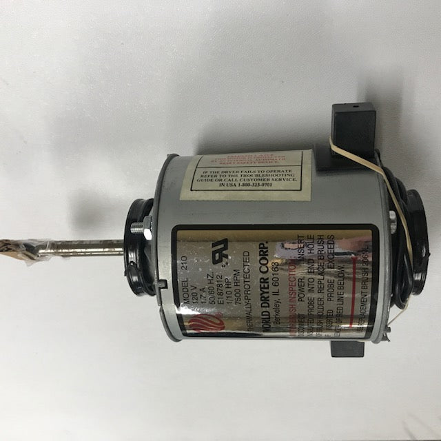 WORLD DXA5-972 (115V - 20 Amp) MOTOR ASSEMBLY with MOTOR BRUSHES (Part# 210K)-World Dryer-Allied Hand Dryer