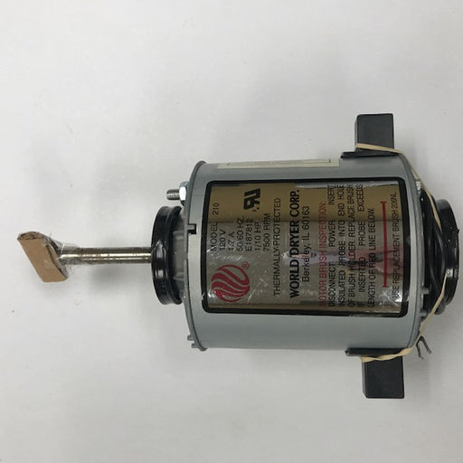 WORLD XRA5-Q974 (115V - 20 Amp) MOTOR ASSEMBLY with MOTOR BRUSHES (Part# 210K) - Allied Hand Dryer