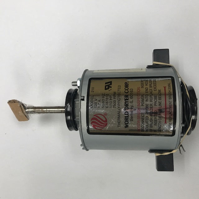 WORLD DXA5-972 (115V - 20 Amp) MOTOR ASSEMBLY with MOTOR BRUSHES (Part# 210K)