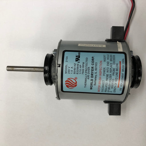 WORLD XRA54-Q974 (208V-240V) MOTOR ASSEMBLY with MOTOR BRUSHES (Part# 210AK)-World Dryer-Allied Hand Dryer