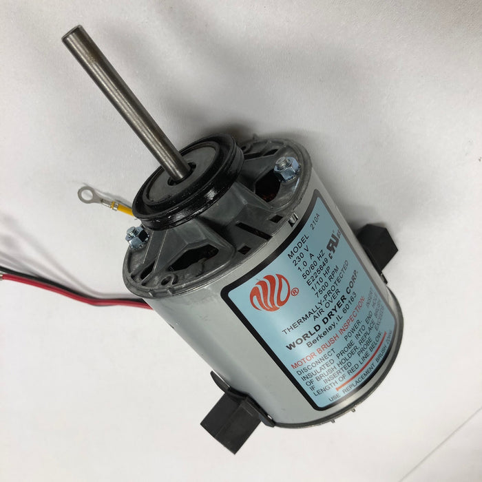 WORLD RA57-Q974 (277V) MOTOR ASSEMBLY with MOTOR BRUSHES (Part# 210AK)