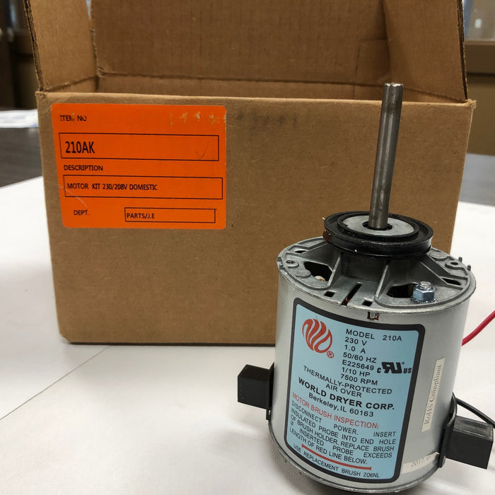 WORLD RA54-Q974 (208V-240V) MOTOR ASSEMBLY with MOTOR BRUSHES (Part# 210AK)