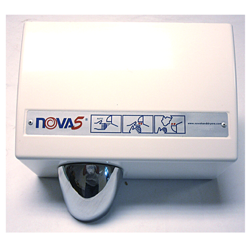 <strong>CLICK HERE FOR PARTS</strong> for the NOVA 0210 / NOVA 5 (110V/120V) Sensor-Activated Model HAND DRYER