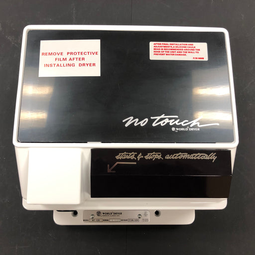 WORLD NT126-005 No Touch REPLACEMENT COVER ASSEMBLY - WHITE (Part# 70NT-777AK)-Hand Dryer Parts-World Dryer-Allied Hand Dryer