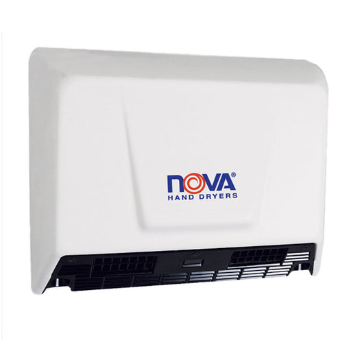 WORLD DRYER® NOVA® 2 (0930) Hand Dryer - White Epoxy on Steel Automatic Universal Voltage Dual Blower Surface-Mounted