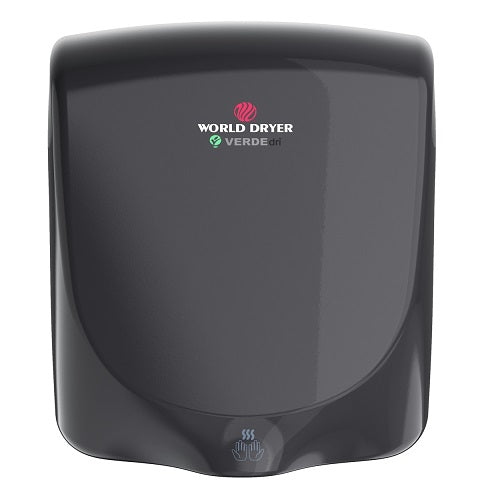 WORLD DRYER® Q-162 VERDEdri™ Hand Dryer - Black Epoxy on Aluminum Automatic Universal Voltage Surface-Mounted ADA Compliant-Our Hand Dryer Manufacturers-World Dryer-Allied Hand Dryer