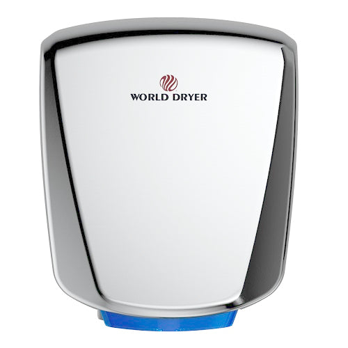 WORLD DRYER® Q-972A2 VERDEdri® Hand Dryer - Polished (Bright) Stainless Steel Automatic Universal Voltage Surface-Mounted ADA Compliant-Our Hand Dryer Manufacturers-World Dryer-Allied Hand Dryer