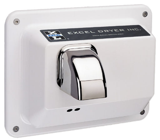 R76-IW, Excel Dryer Hands-Off Recessed White Metal Hand Dryer