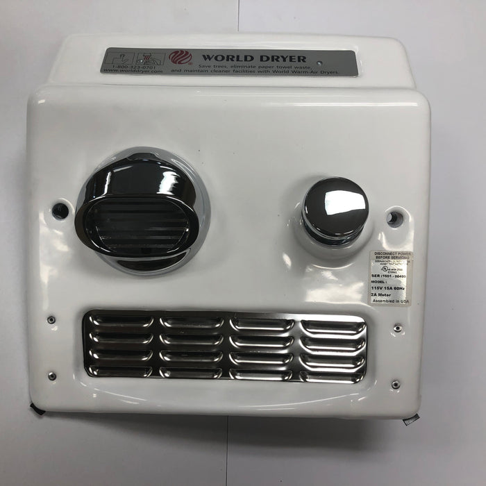 WORLD RA5-Q974 (115V - 20 Amp) COVER ASSEMBLY COMPLETE (Part# 703A)-World Dryer-Allied Hand Dryer