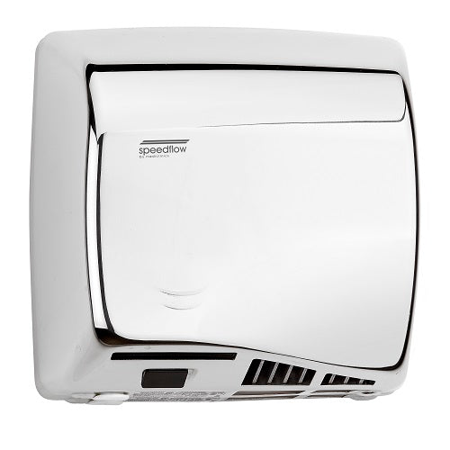 Saniflow® M06AC SPEEDFLOW® Hand Dryer - Bright (Polished) Stainless Steel High-Speed Universal Voltage ADA-Our Hand Dryer Manufacturers-Saniflow-Allied Hand Dryer