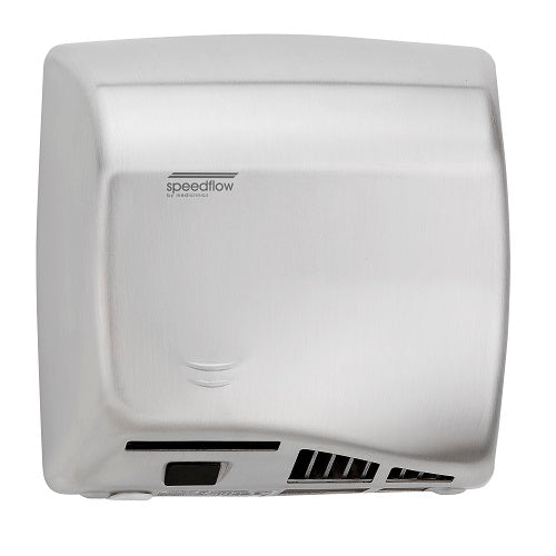 Saniflow® M06ACS SPEEDFLOW® Hand Dryer - Satin (Brushed) Stainless Steel High-Speed Universal Voltage ADA-Our Hand Dryer Manufacturers-Saniflow-Allied Hand Dryer