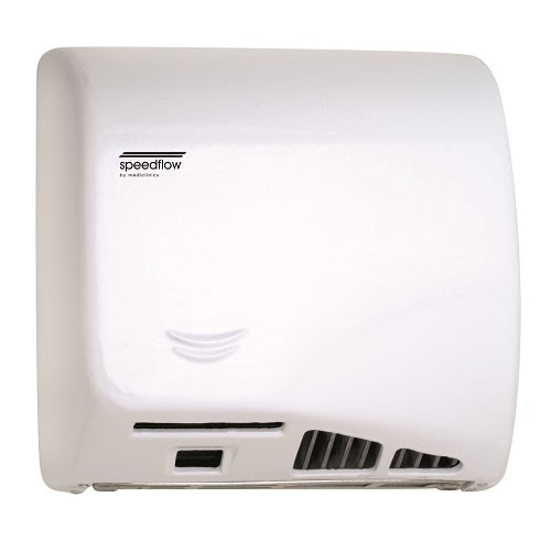 Saniflow® M06AF SPEEDFLOW® Hand Dryer - Cast Iron White Epoxy High-Speed Universal Voltage ADA-Our Hand Dryer Manufacturers-Saniflow-Allied Hand Dryer