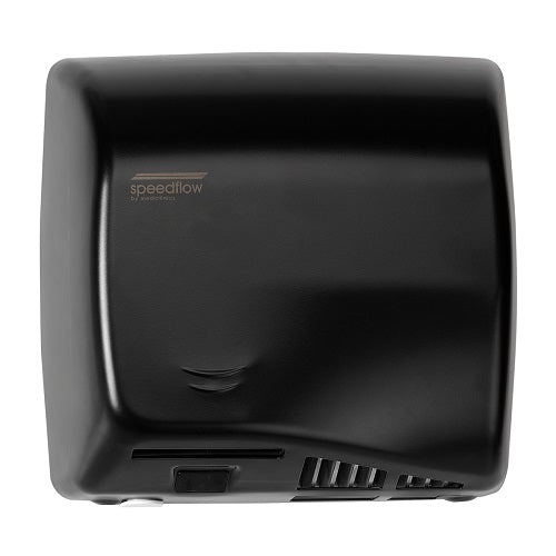 Saniflow® M17AB SPEEDFLOW® PLUS Hand Dryer - Steel Black Epoxy High-Speed HEPA Universal Voltage ADA-Our Hand Dryer Manufacturers-Saniflow-Allied Hand Dryer