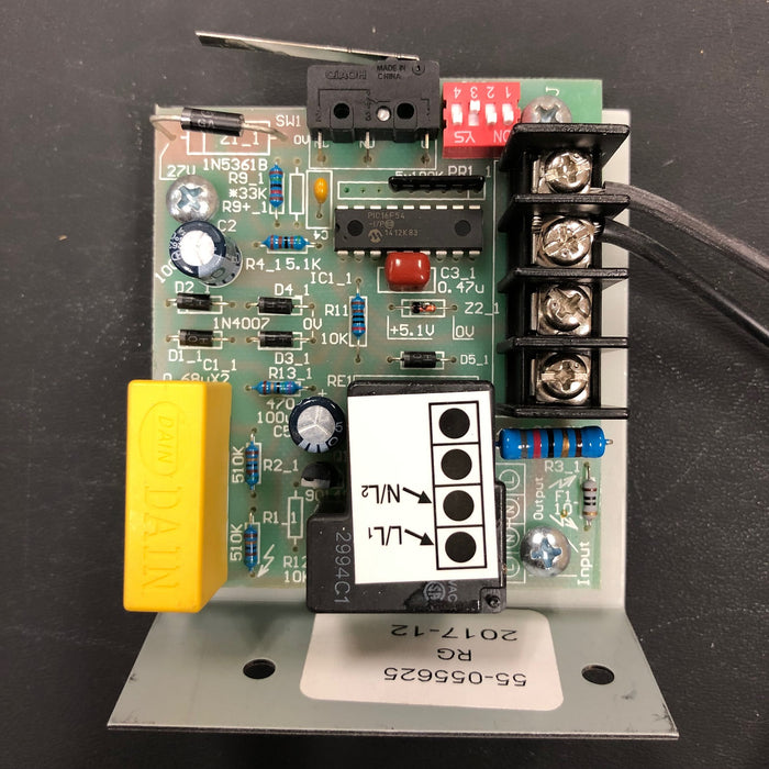 ASI TRADITIONAL Series Push-Button Model (208V-240V) CIRCUIT BOARD/MICRO SWITCH TIMER ASSY (Part# 055625)-Hand Dryer Parts-ASI (American Specialties, Inc.)-Allied Hand Dryer