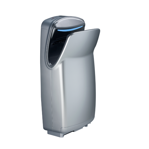 WORLD DRYER® V-649A VMAX® V2 - High-Speed, Surface-Mounted, Vertical Hands-Down-In 110V/120V SILVER (Replaces the Discontinued V-629A, V-639A, and V674A)-Our Hand Dryer Manufacturers-World Dryer-Allied Hand Dryer