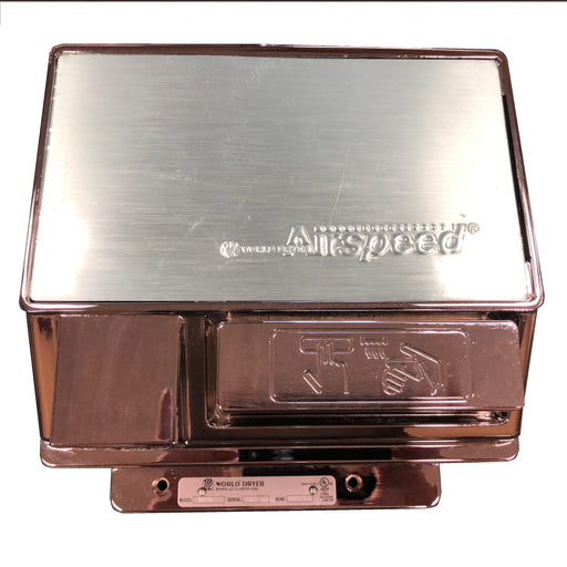 <strong>CLICK HERE FOR PARTS</strong> for the WA126-001 WORLD AirSpeed (110V/120V) Chrome Push-Button Hand Dryer