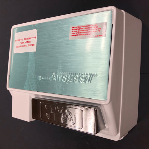 <strong>CLICK HERE FOR PARTS</strong> for the WA126-002 WORLD AirSpeed (110V/120V) White Push-Button Hand Dryer