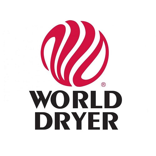 WORLD DRYER® DM54-973 AirMax™ Series Hand Dryer - Brushed Stainless Steel High Speed Push Button Surface-Mounted (208V-240V)