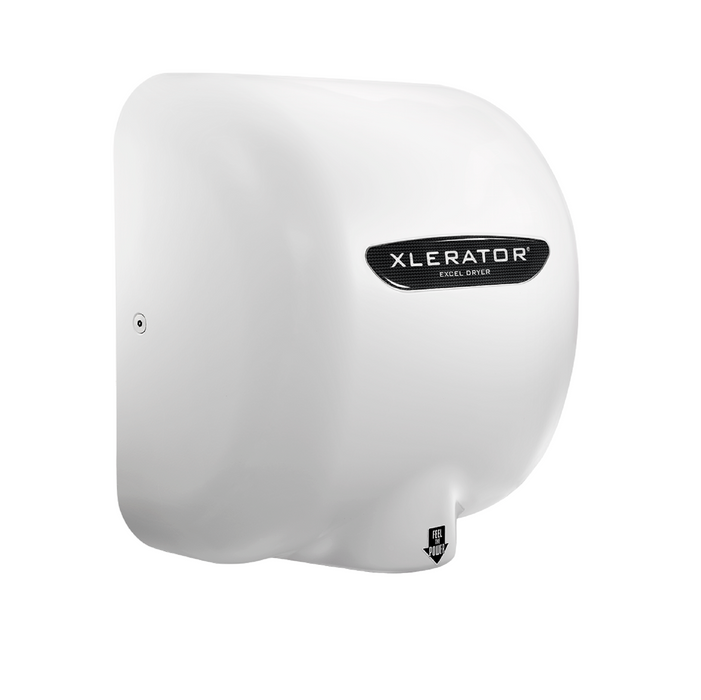XL-BWH, XLERATOR with HEPA FILTER Excel Dryer White BMC (Reinforced Polymer)-Excel-Allied Hand Dryer