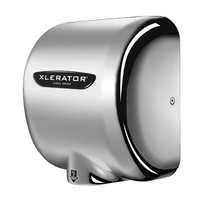 XL-CH, XLERATOR with HEPA FILTER Excel Dryer Polished Chrome Platting on Zinc Alloy-Excel-Allied Hand Dryer