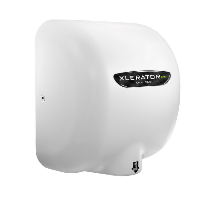 XL-WH-ECO, XLERATOReco with HEPA FILTER Excel Dryer (No Heat) White Epoxy on Zinc Alloy-Excel-Allied Hand Dryer