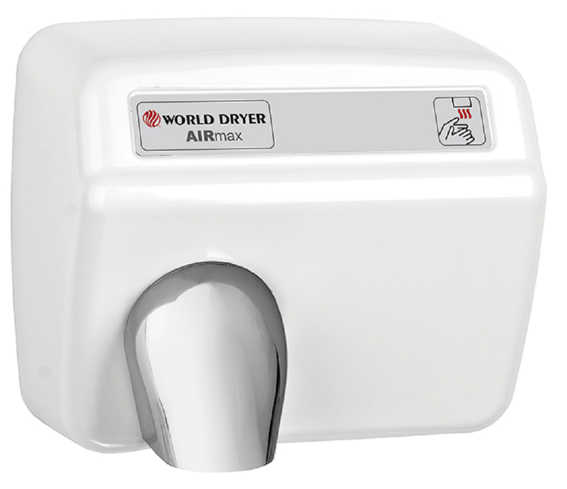DXM54-974, AirMax World Dryer Automatic, Steel White (208V-240V)-Our Hand Dryer Manufacturers-World Dryer-208-240 volt AIRMAX-Allied Hand Dryer