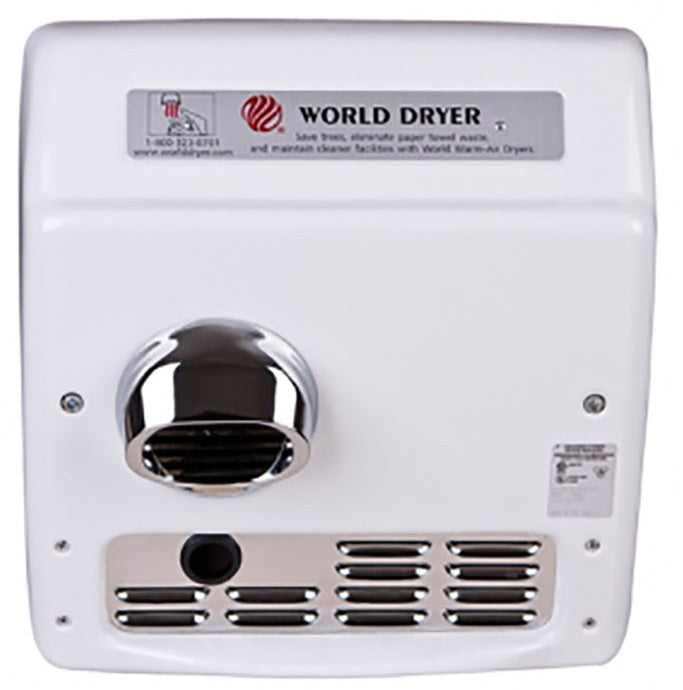 WORLD XRA54-Q974 (208V-240V) METAL FAN SCROLL, BLOWER, SQUIRREL CAGE (Part# 101i, Replaces Plastic Part# 101P)-World Dryer-Allied Hand Dryer