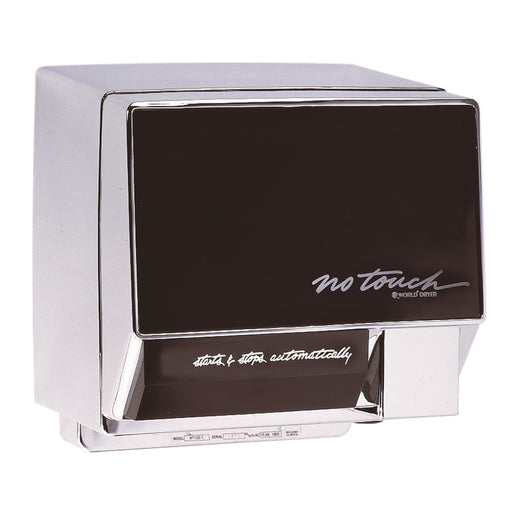 <strong>CLICK HERE FOR PARTS</strong> for the NT126-004 WORLD No-Touch (110V/120V) Chrome Automatic Hand Dryer - Allied Hand Dryer