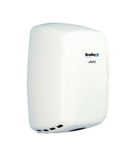 Bradley Aerix Model 2901-2873 Adjustable Speed Hand Dryer - Steel, White Epoxy