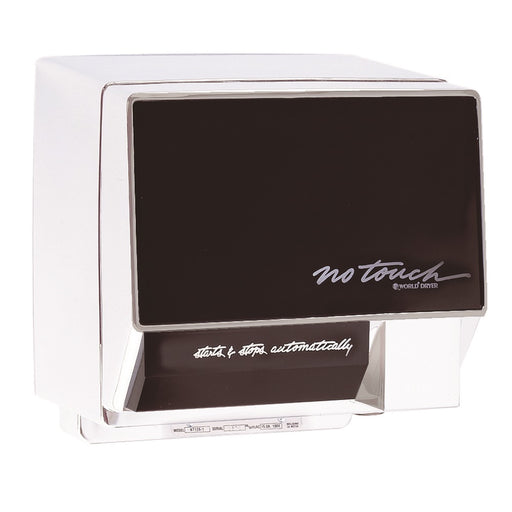 <strong>CLICK HERE FOR PARTS</strong> for the NT126-005 WORLD No-Touch (110V/120V) White Automatic Hand Dryer - Allied Hand Dryer
