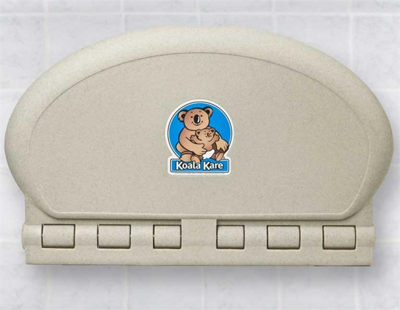 KB208-14, KOALA Sandstone OVAL Baby Changing Station - Horizontal-Our Baby Changing Stations Manufacturers-Koala-Allied Hand Dryer