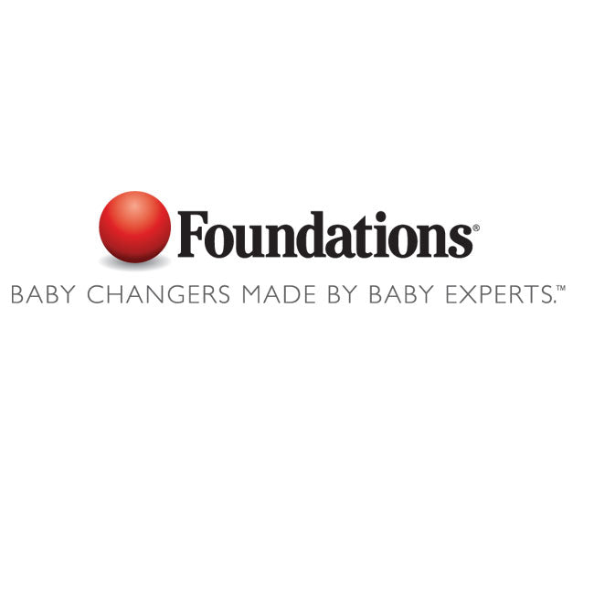 Foundations 100-EH-BP Surface-Mounted, Horizontal-Folding Light Gray Baby Changing Station with EZ Mount Backer Plate-Our Baby Changing Stations Manufacturers-Foundations-Allied Hand Dryer