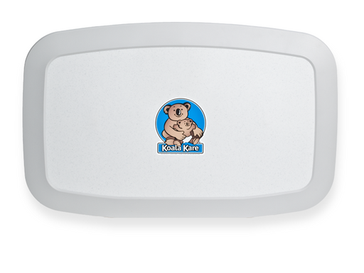 "Koala Kare® KB200-05 - Surface Horizontal ""White Granite"" Baby Changing Station"