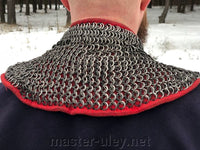 Chain mail with padded gorget