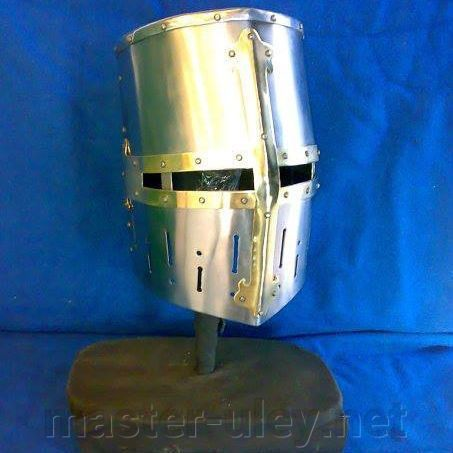 Crusader  helmet with golden cross