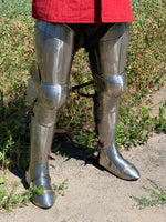 Titanium plate legs with 3/4 greaves