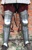 "Knight legs set ""Edward"" with red leather"
