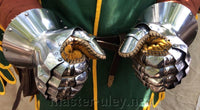 "Knignt gauntlets ""Edward 3"" (tempered)"