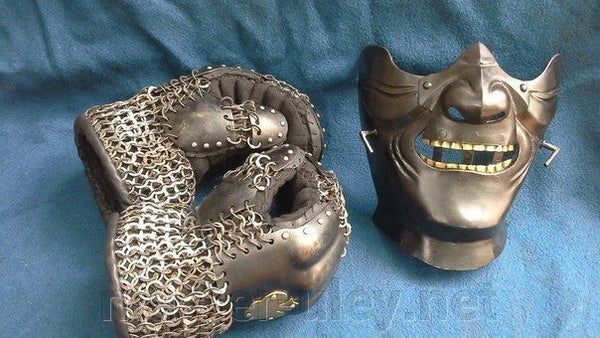 Samurai Mask ( tempered steel)