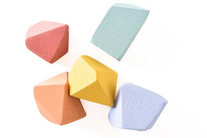 Tiny Rainbow Rock Blocks (Set of 5)