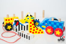 Load image into Gallery viewer, Melissa & Doug Pull-Along Zoo Animals