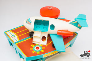 Vintage 1970s Fisher Price #996 Play Family Airport Set