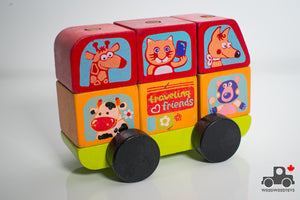 Cubika Friendly Bus Wooden Construction Set