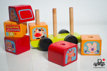Load image into Gallery viewer, Cubika Friendly Bus Wooden Construction Set