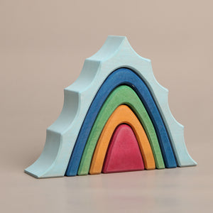 Earthy Mountain Stacker by Avdar Toys